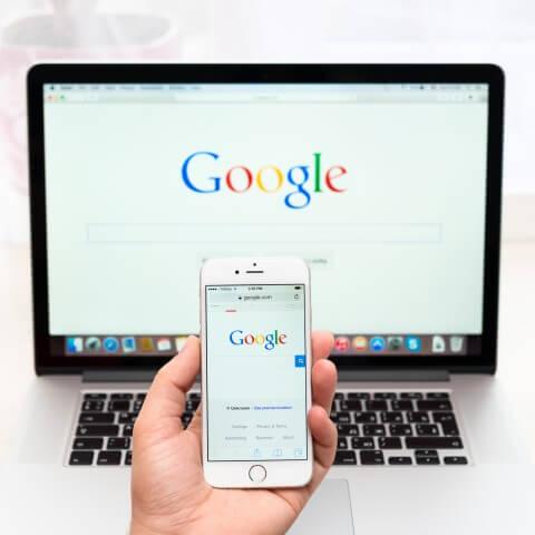 mobiele website en pc website